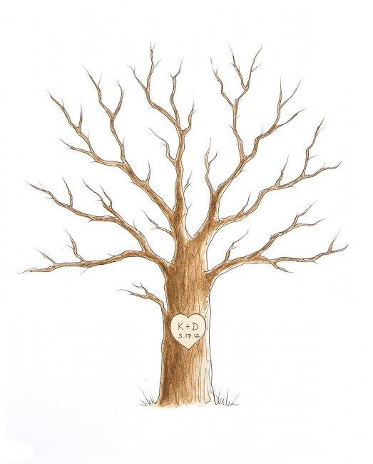 Шаблон дерева для пожеланий