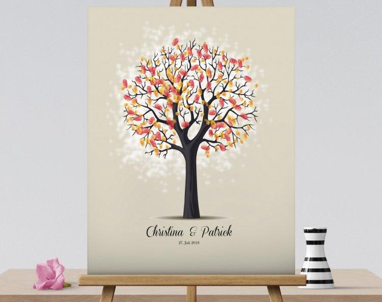 Дерево пожеланий на холсте