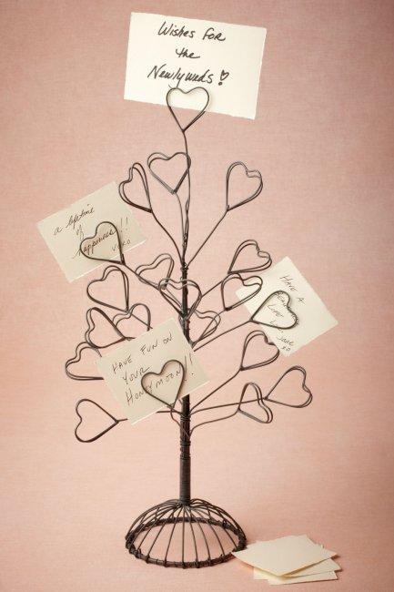 Оригинальное дерево пожеланий из проволоки