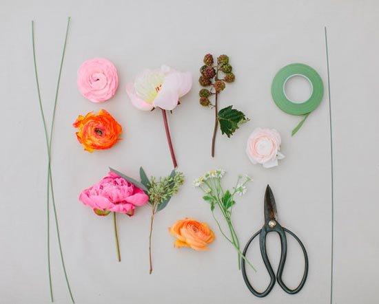 Каркас для венка из живых цветов