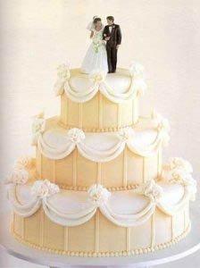 Цвет свадебного торта