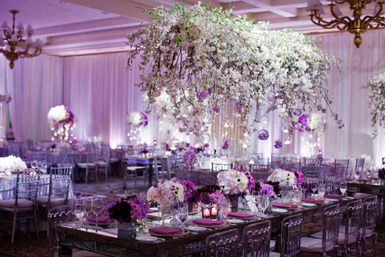 Оттенки лавандовой свадьбы