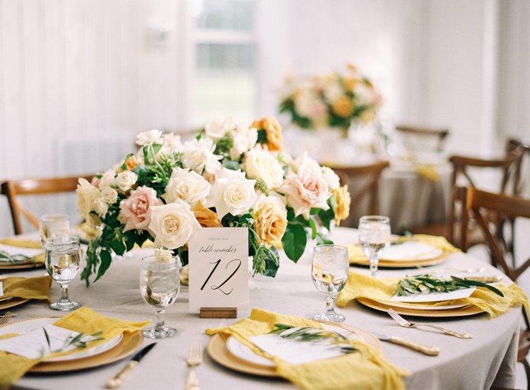свадьба в желтом оттенки