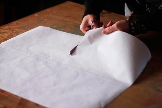 Нарезка бумаги для заморозки