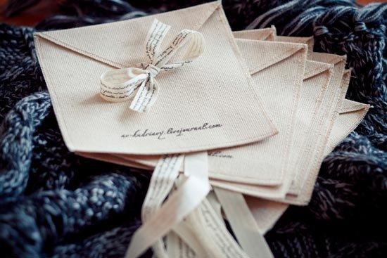 Текстильный конверт