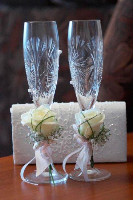 Бокалы для молодоженов для свадебного банкета