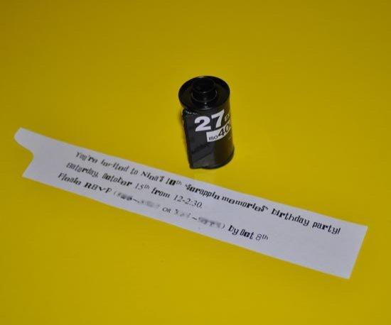 Пригласительные из кассет для пленки