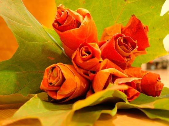 Картинки по запросу роза з кленового листя