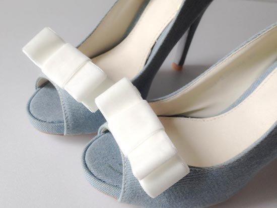 Бантики для свадебной обуви