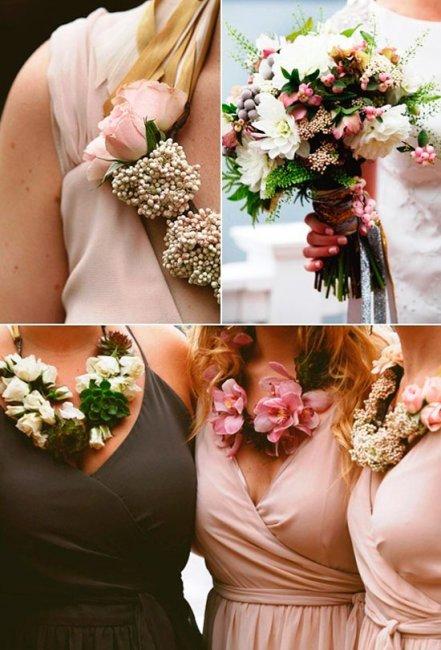 Ожерелья для подружек невесты