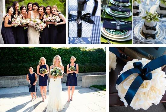 Синие свадебные платья фото невест в нарядах бело-синего 34