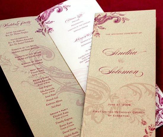 Стильная программа свадьбы