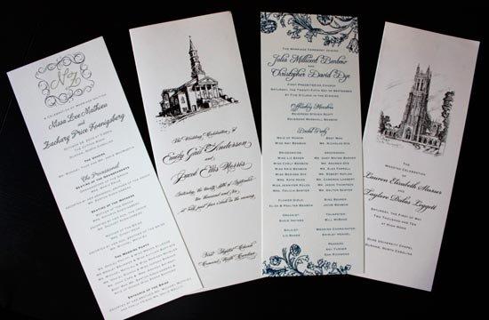 Программа свадьбы с вкладышами