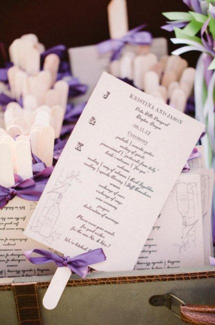 Романтичная программа свадьбы на палочке