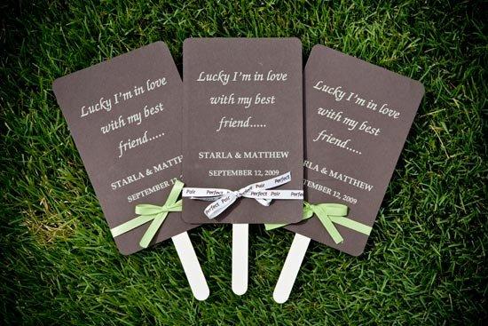 Стильная программа свадьбы на палочке