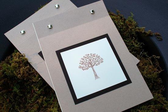 Программа свадьбы в виде блокнота на кнопках