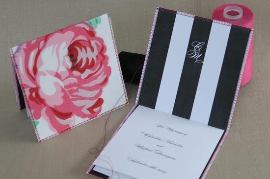Стильные программа свадьбы и конверт