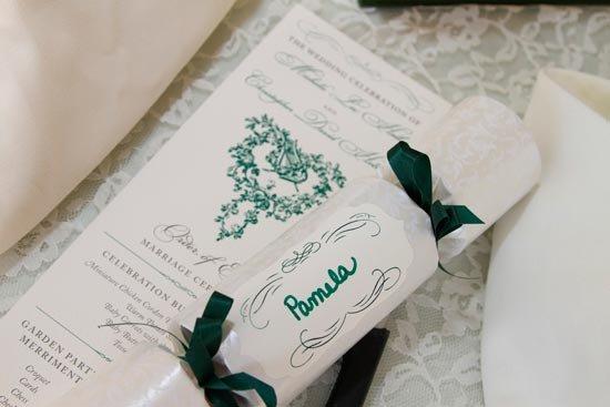 Стилизованная программа свадьбы в виде свитка