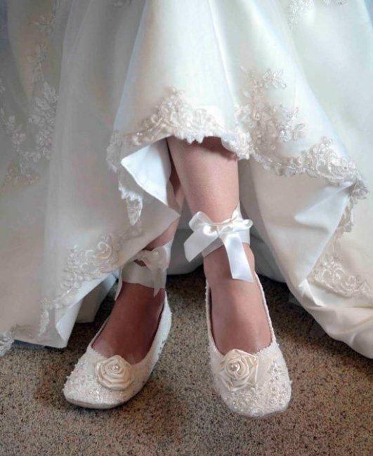 Балетки на свадьбу: за и против