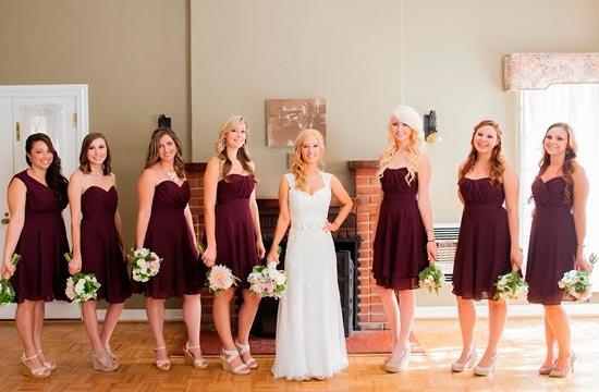 Как выбрать платья для подружек невесты
