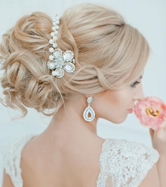 для блондинок фото прически свадебные