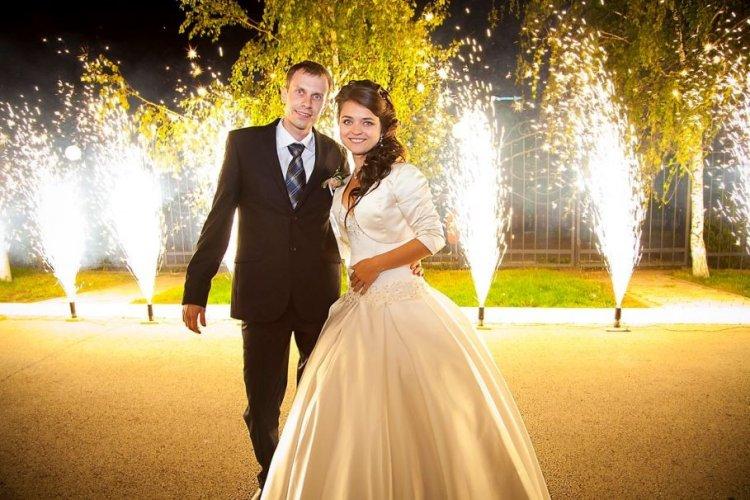 Наземный свадебный салют