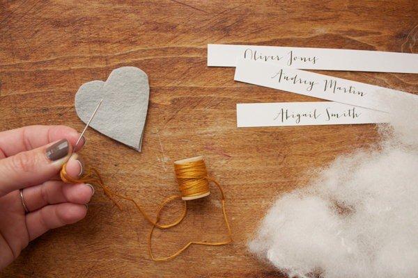 Начинаем сшивать сердечки