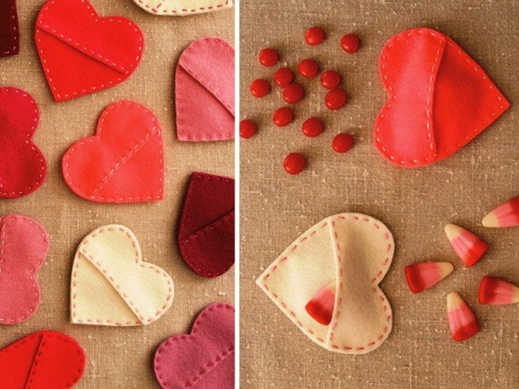 Фетровое сердце в подарок