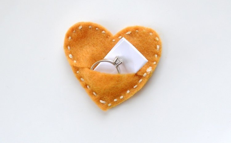 Подарок в сердечке