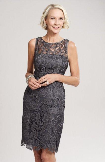 Кружевное укороченное платье