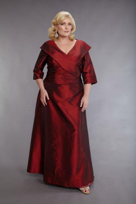 Длинный костюм для полной женщины