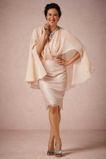 Платья до колена для мамы невесты