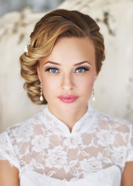 Свадебный макияж для шатенок