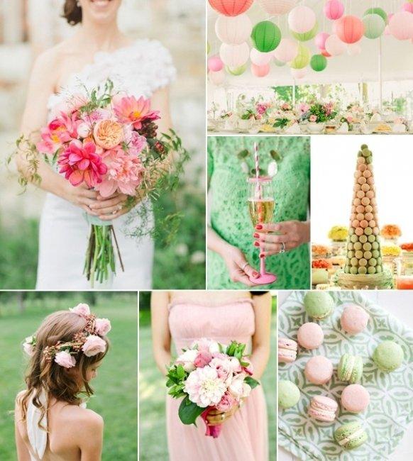 Цвет свадьба бирюзово розовый