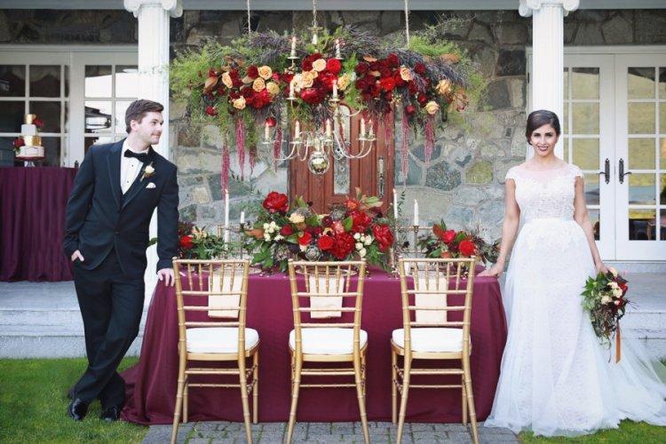 Свадьба в цвете марсала фото