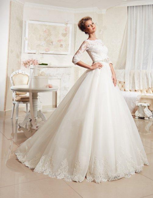 67f3221c39b5609 Закрытые свадебные платья – снова на пике моды