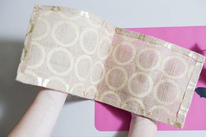 Ткань с загнутыми краями