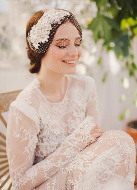 Вуалетка - стильный аксессуар невесты