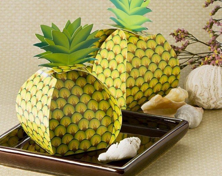 Коробочки-бонбоньерки в виде ананасов