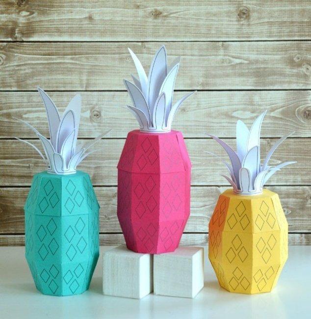 Бонбоньерки в виде ананасов