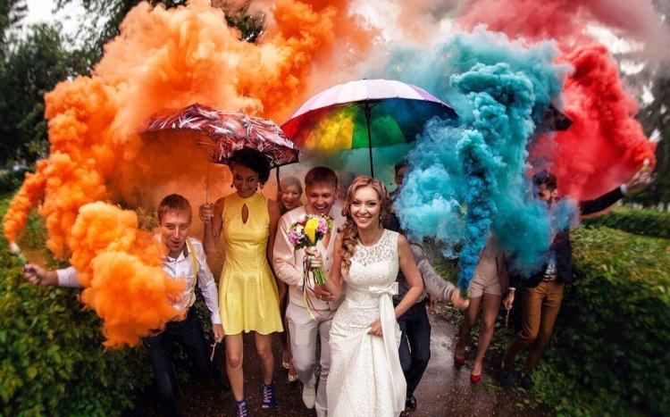 Цветной дым для фотосессии