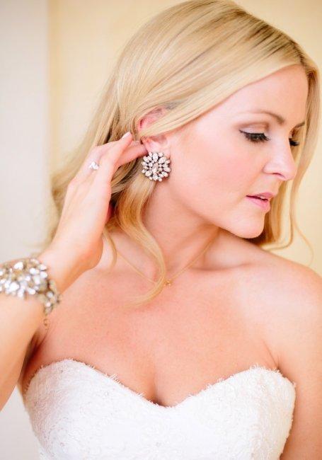 Серьги и браслет для невесты