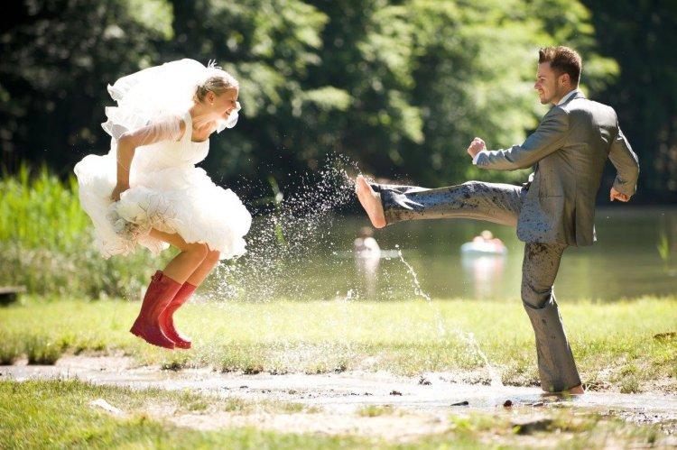 Свадебная фотосъемка в стиле Trash