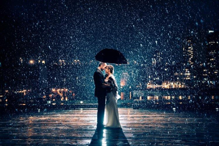 Свадебная фотосессия ночью