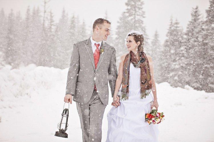 Свадебные фото в снег