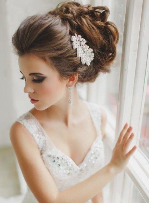 свадебные фото прически