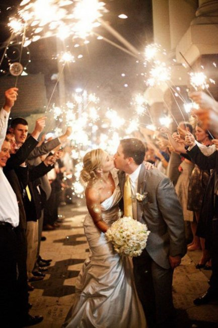 Красивое окончание свадьбы