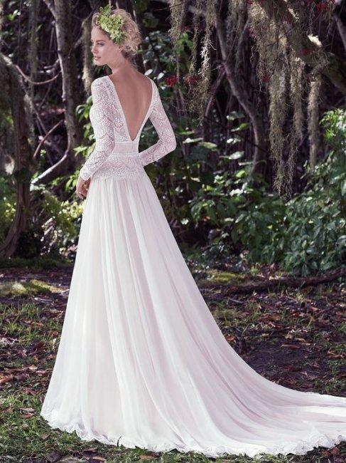 6a2cc88ca2a Свадебные платья с кружевными рукавами  фото лучших моделей