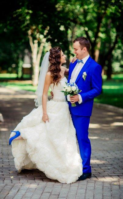 Образ для синей свадьбы