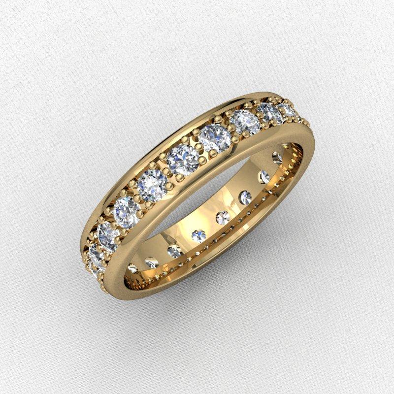 Кольцо с маленькими бриллиантами